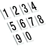 Aviditi DL9315 Vinyl Warehouse Number Kit Label, 3-1/2'' Height, White