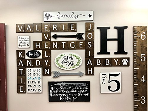 Large Scrabble Tiles 5in x 5in - Scrabble Tile Art