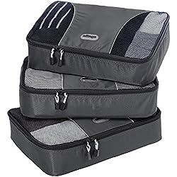 eBags Medium Packing Cubes - 3pc Set (Titanium)