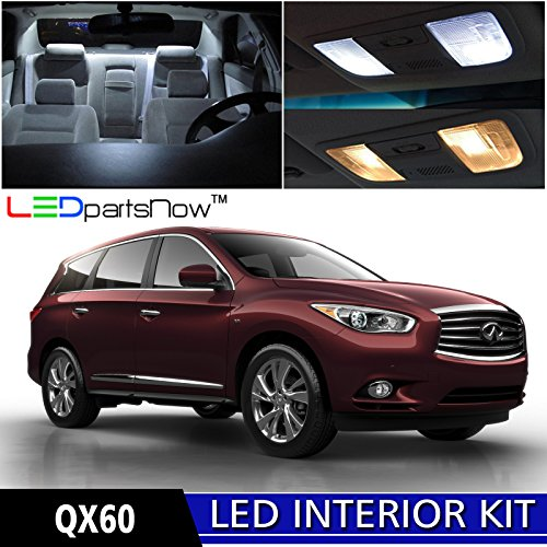 ledpartsnow 2015 infiniti qx60 led interior lights accessories replacement package kit 9 pieces. Black Bedroom Furniture Sets. Home Design Ideas