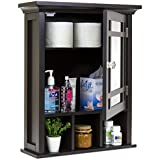 Best Choice Products Bathroom Vanity Mirror Wall Storage Cabinet (Espresso)