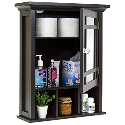 - Best Choice Products Bathroom Vanity Mirror Wall Storage Cabinet (Espresso)