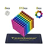 Teentumn 528 Pieces 5mm Sculpture Building Blocks Toys for Intelligence Learning -Office Toy & Stress Relief for Adults (Colorful)