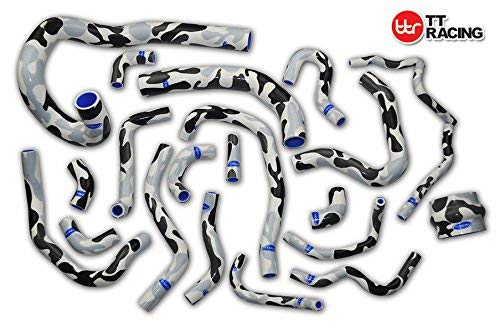 Silicone Radiator Hose Kit for Toyota Supra MK3 MA70 7MGE/7MGTE/7M-GT 86-92 Camo Grey 21pcs:
