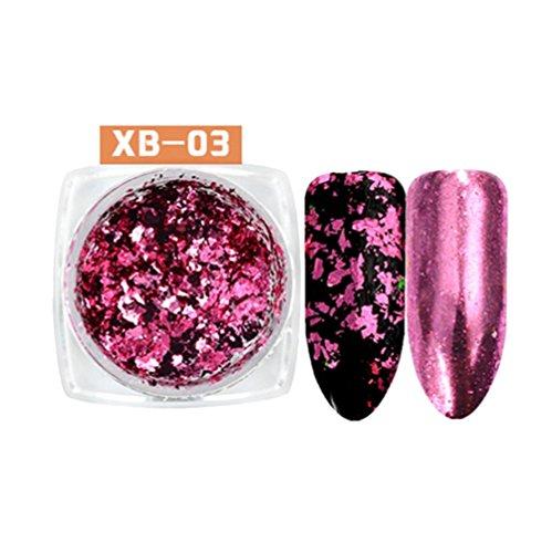 Chameleon Nail Art Sequins Glitter Paillette Transparent Manicure Decor (C)