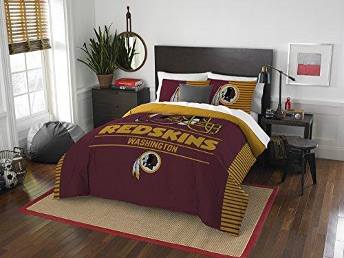 Officially Licensed NFL Washington Redskins Draft Full/Queen Comforter and 2 Sham Set Washington Redskins Bed