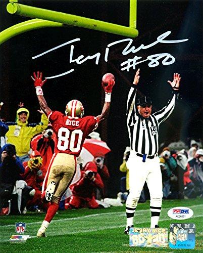 (Jerry Rice Autographed 8x10 Photo San Francisco 49ers PSA/DNA Stock #113481 )