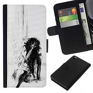 All Phone Most Case / Oferta Especial Cáscara Funda de cuero Monedero Cubierta de proteccion Caso / Wallet Case for HTC DESIRE 816 // Depression Deep Emo Black