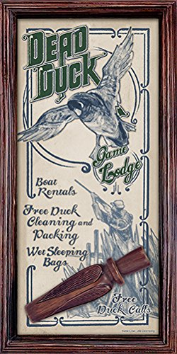SignMission Dead Duck Game Lodge Novelty Sign | Indoor/Outdoor | Funny Home Décor for Garages, Living Rooms, Bedroom, Offices Personalized Gift Wall Plaque Decoration