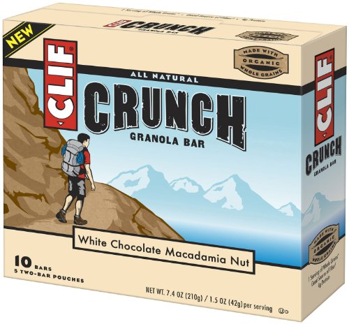 Clif Crunch Bar, White Chocolate Macadamia Nut, 10 Count Box (Pack of 4)