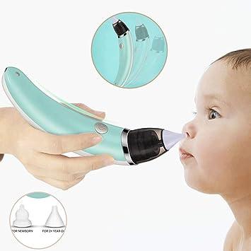 Aspirador nasal para bebé, aspirador nasal recién nacido, limpiador de nariz eléctrico, seguro higiénico para recién nacidos y niños pequeños, carga USB: Amazon.es: Salud y cuidado personal