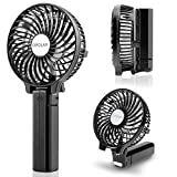 use fan - OPOLAR Handheld Portable Battery Operated Rechargeable USB Fan,Mini Personal fan with 2200mAh Battery and 3 Settings for Travel Home and Office Use (Strong Wind, Adjustable Angle)- Black