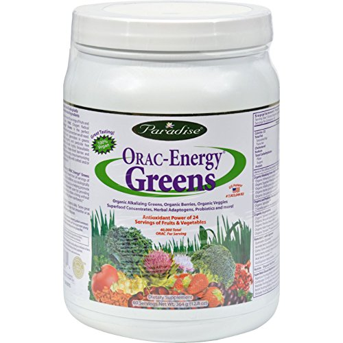 2Pack! Paradise Herbs Orac Energy Greens - 12.8 oz by Superfoods