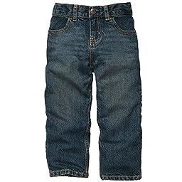 OshKosh B\'Gosh Baby Boys Jeans (6M-24M) (24 Months, Tumbled Medium Faded)