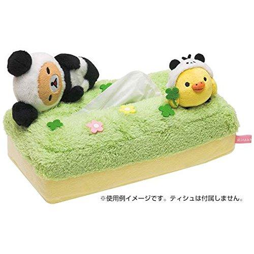 San-X Rilakkuma Tissue Cover Plush Animal - Panda de Gororin Series (KF86301)