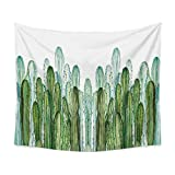 Chengsan Landscape Tapestry Watercolor Headboard, Cactus Wall Tapestry Mandala Tapestry Bohemian Tapestry Cactus Tapestry Indian Wall Decor Hippie Tapestry Headboard Home Decor (4, 59x78 inch)