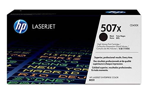HP 507X (CE400X) Black High Yield Original Toner Cartridge for HP LaserJet Enterprise 500 551 570 (507a Black Cartridge Toner)