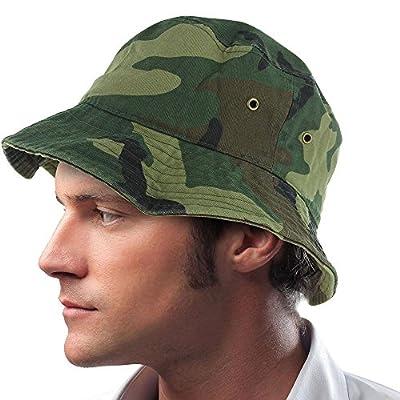 Wd Camo_(US Seller) Cotton Boonie Fishing Summer Hat Cap Sportsman