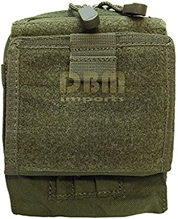 Molle Tactical ATLAS Map Pouch ID Admin Chart Case Clear Cover Carrier-BLACK