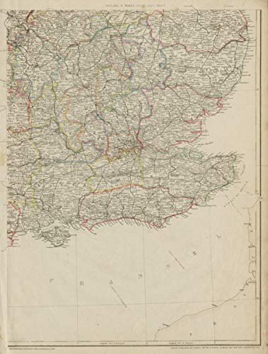 - South East England. Home Counties Surrey Kent Sussex Hants &c. Weller - 1862 - Old map - Antique map - Vintage map - Printed maps of Great Britain