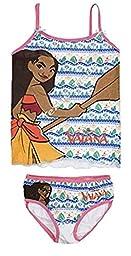 Disney Moana (Vaiana) Girls Underwear Set (6/8 Years, White)