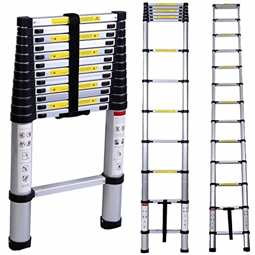 16 Step Aluminum Telescopic Telescoping Collapsible Loft