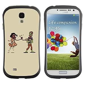 Be-Star Impreso Colorido Diseño Antichoque Caso Del iFace Primera Clase Tpu Carcasa Funda Case Cubierta Par SAMSUNG Galaxy S4 IV / i9500 / i9515 / i9505G / SGH-i337 ( Weird Apocaluptic Love )