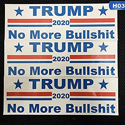 CheeseandU 30Pack Donald Trump 2020 Decals President Make America Great Again Trump Keep America Great Decal Bumper Sticker for Window Cars, 3 Different Sticker Designs,76x230MM: Toys & Games