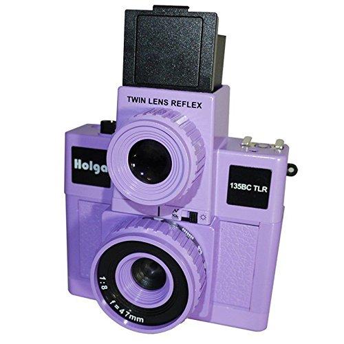 Holga 135BC TLR Black Corners Purple Twin Lens Reflex Film Camera by Holga