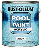 Rust-Oleum 269359 Acrylic Pool and Fountain Paint, 1-Gallon, Aqua, 2-Pack