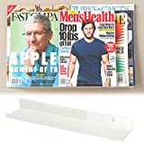 Wallniture Book Magazine Shelf Set of 2 Acrylic Invisible Display Rack Storage 17 inch