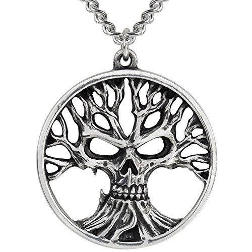 Alchemy Gothic Gotik Tree Of Death Pewter Pendant Necklace