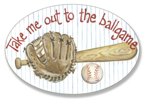 The Kids Room by Stupell Take me out to the Ballgame Oval Wall Plaque by The Kids Room by Stupell