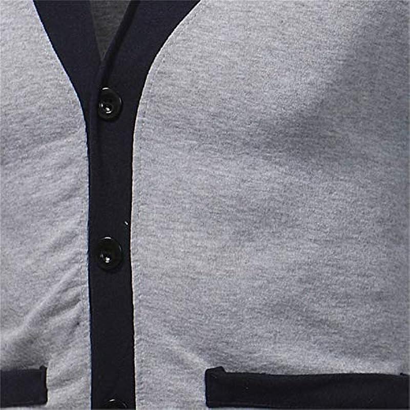 Dishfeilt Męskie V-Ausschnitt Baumwolle Męskie Cardigan Patchwork Slim Fit Tasche Weiche Kleidung Gestrickt Casual Sweater Pull Homme: Odzież