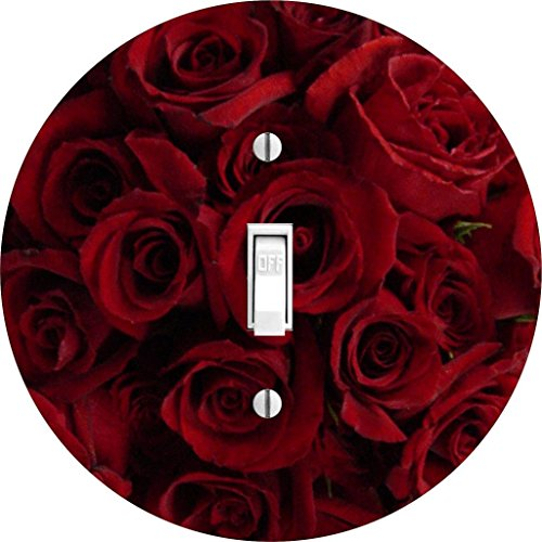 A Single Rose Florist - Red Roses light switch cover for single lightswitch