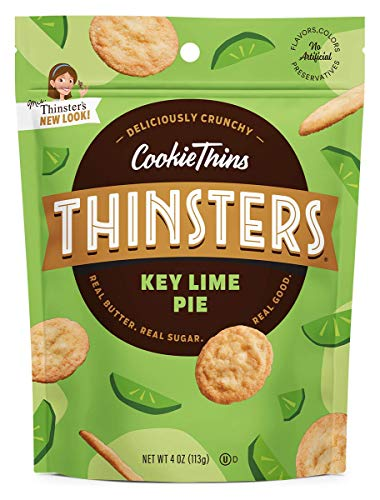 Thinsters Cookie Thins Key Lime Pie, 4 oz (Pack of 12), Non GMO, Peanut Free ()