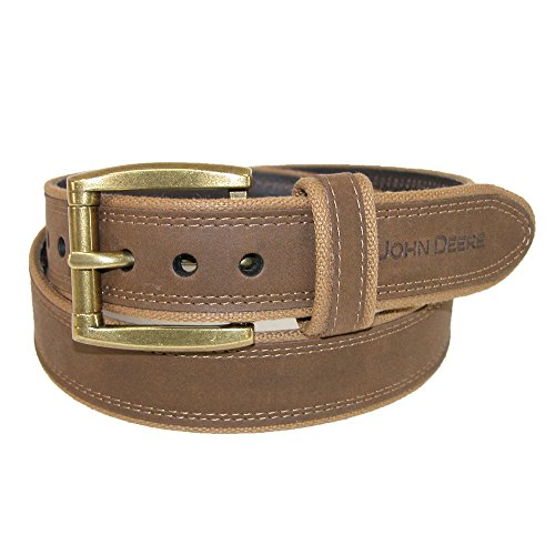 john-deere-mens-canvas-with-crazy-horse-leather-belt-42-brown