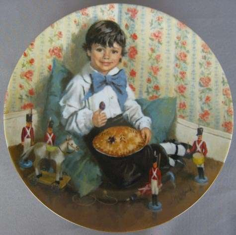 Reco Little Jack Horner Collectible Plate by John McClelland