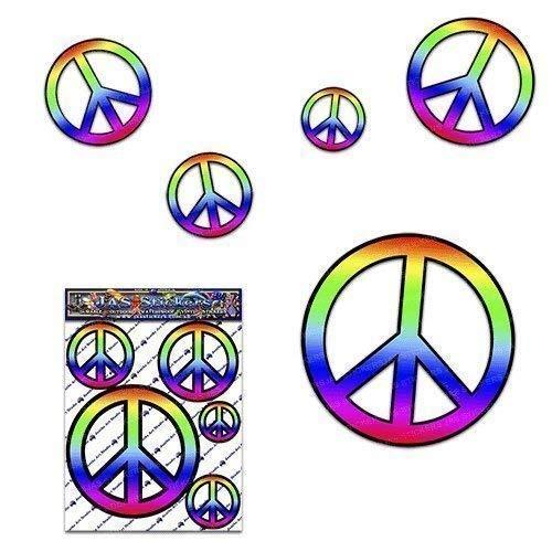 Paquete de la etiqueta engomada del coche de la etiqueta del signo de la paz para las caravanas de los carros del coche - ST00022_SML - JAS