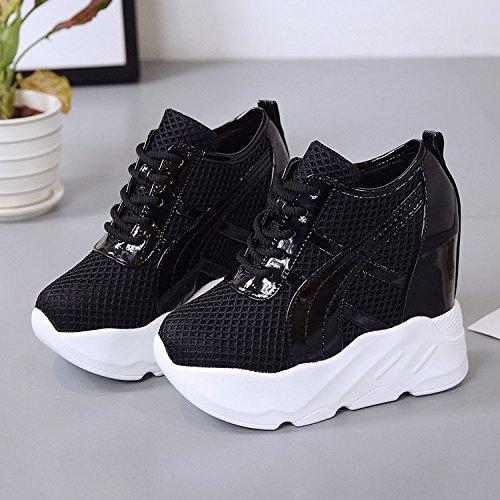 studente 11 spesse scarpe cravatta maggiore scarpe black 36 high corrisponde tutto di sportive GTVERNH una shoes scarpe 13cm heeled autunno ZBwIz