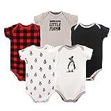 Hudson Baby Baby Infant Bodysuits, 5 Pack, Boy Penguin, 0-3 Months