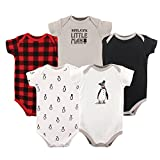 Hudson Baby Baby Cotton Bodysuits, Boy Penguin 5-Pack 3-6 Months (6M)