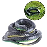 Susuntas Realistic Rubber Fake Snake Simulation Toy 52 Inch Joke Gift for Boys Garden Props and Joke...
