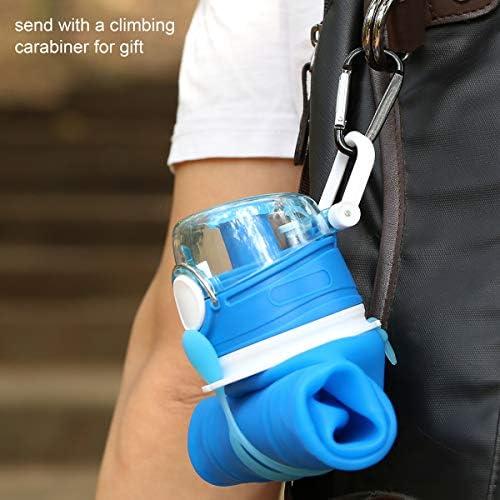Valourgo 35 oz. Collapsible Water Bottle, Large bpa Free Travel Water Bottle Reusable Water Bottle