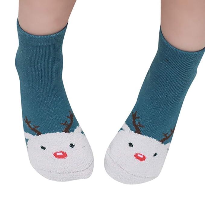 ef4d6830e3c3 Moonuy Christmas Kids Toddler Knitted Warm Long Socks Baby Girls ...