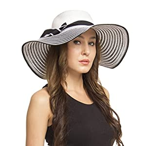 FabSeasons Wavy Long Brim Sun Hat for Women