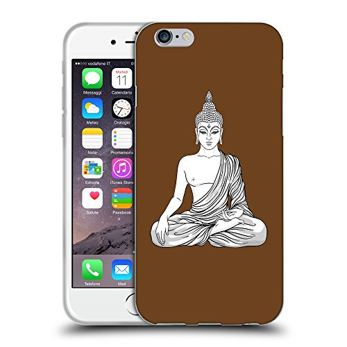 GoGoMobile Coque de Protection TPU Silicone Case pour // Q07720633 Bouddha 8 Sépia // Apple iPhone 6 4.7""