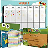 Potty Training Chart - Reward Sticker Chart - Nature Forest Theme - Marks Behavior Progress - Motivational Toilet Training for Toddlers and Children - Great for Boys and for Girls