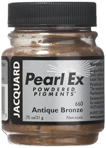 Jacquard JAC-JPX1660 Pearl Ex Powdered Pigment, 0.75 oz, Antique Bronze