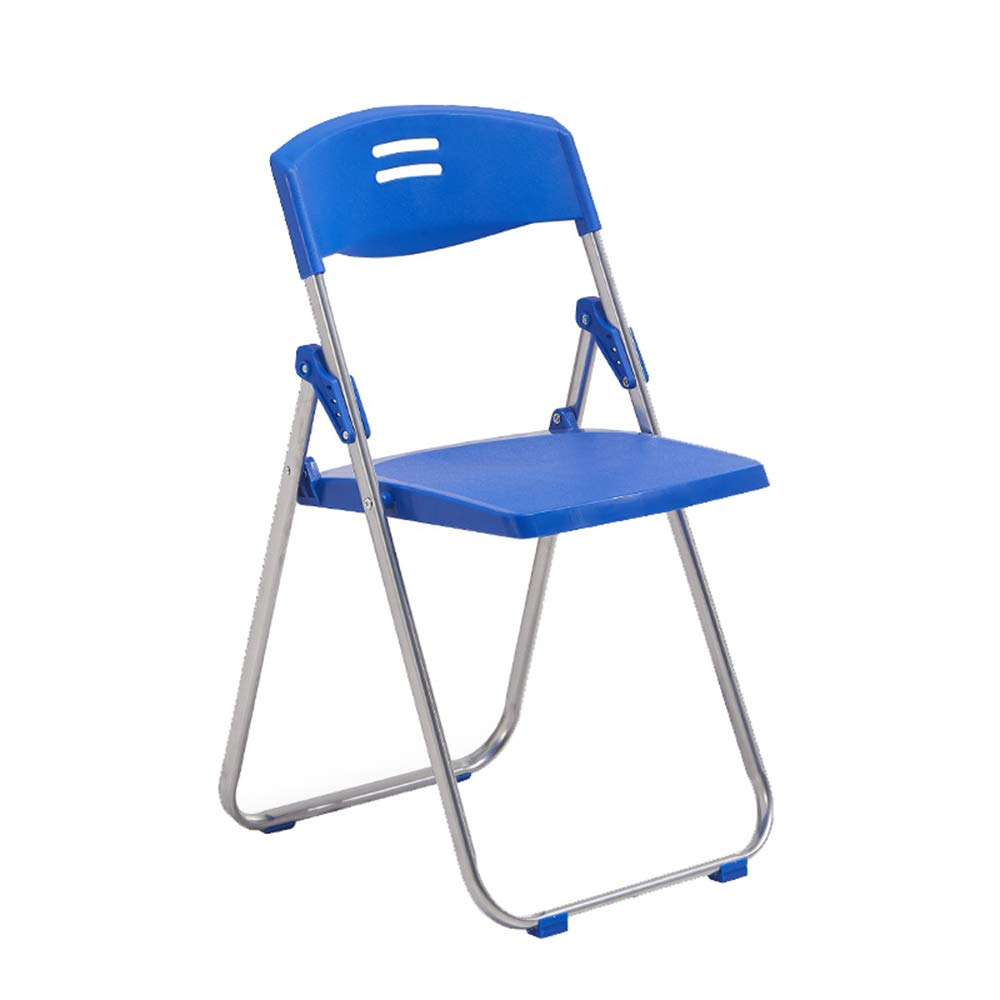 bluee Folding chair, plastic chair, office reception chair, conference chair